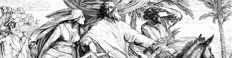 Переселение Авраама в землю обетованную - гравюра Юлиус Шнорр фон Карольсфельд
